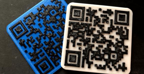 Sharing WiFi Easily: 3D Printed QR Code